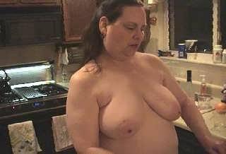 Nancy working in the Kitchen